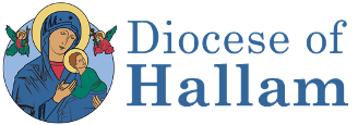 Logo Diocese of Hallam in two lines