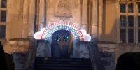 Barlborough Hall School Lit Up with Giant Rainbow